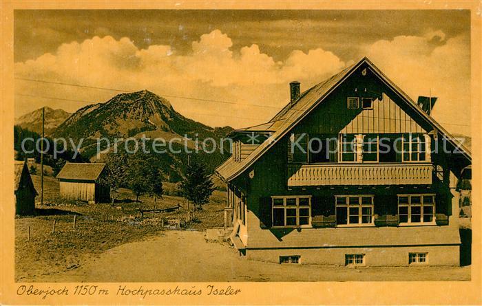 AK / Ansichtskarte Oberjoch Hochpasshaus Iseler Kat. Bad Hindelang