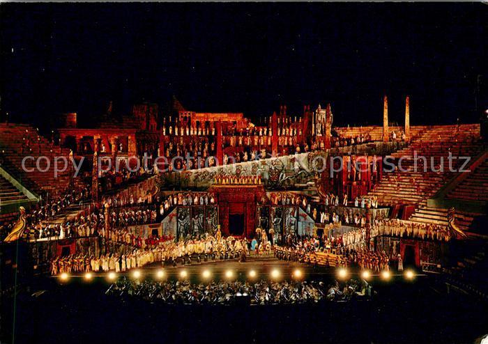 AK / Ansichtskarte Verona Veneto Arena Opera Szene Aida  Kat. Verona