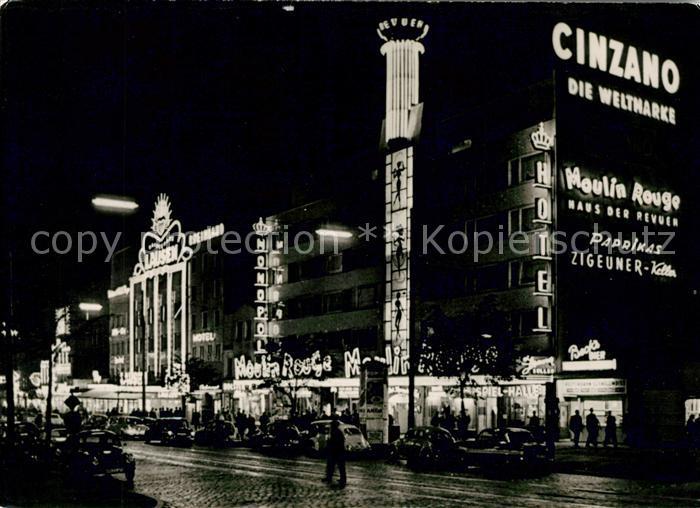 AK / Ansichtskarte Hamburg St Pauli bei Nacht Kat. Hamburg