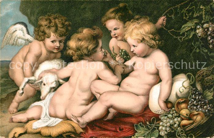 AK / Ansichtskarte Rubens Paul Peter Jesus der Heilige Johannes und zwei Engel Litho