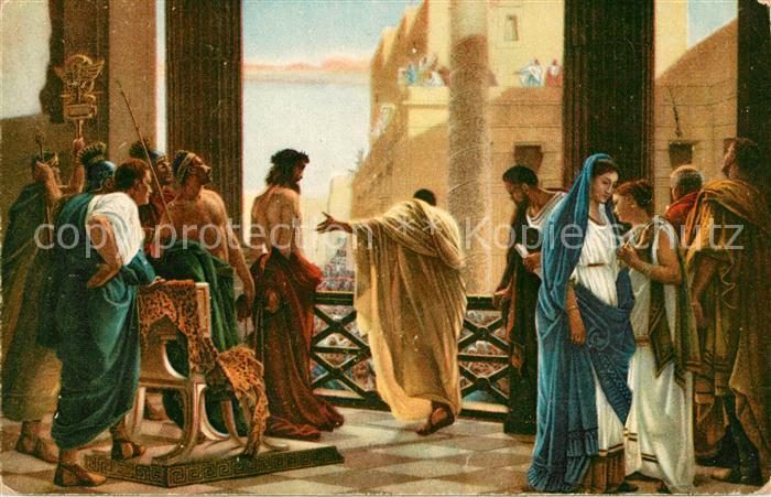 AK / Ansichtskarte Kuenstlerkarte Antonio Ciseri Ecce Homo Jesus  Kat. Kuenstlerkarte