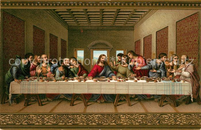 AK / Ansichtskarte Leonardo Da Vinci Das Heilige Abendmahl Litho Kat. Persoenlichkeiten