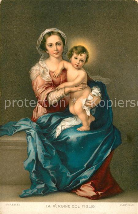 AK / Ansichtskarte Kuenstlerkarte Murillo La Vergine col Figlio Litho  Kat. Kuenstlerkarte