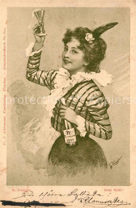 AK / Ansichtskarte Kuenstlerkarte H. Torggler Dein Wohl  Kat. Kuenstlerkarte
