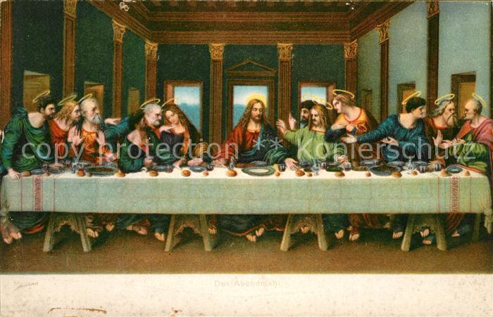 AK / Ansichtskarte Leonardo Da Vinci Abendmahl Jesus Kat. Persoenlichkeiten