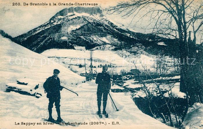 AK / Ansichtskarte Le Sappey en Chartreuse Isere En hiver Chamechaude Kat. Le Sappey en Chartreuse