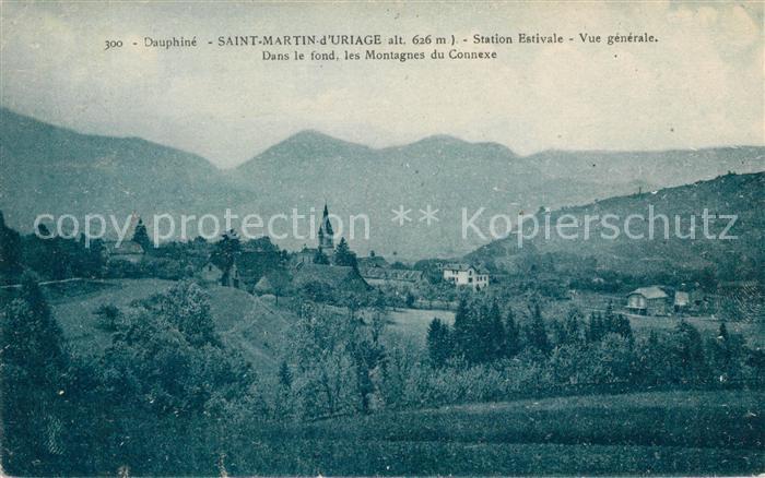 AK / Ansichtskarte Saint Martin d Uriage Dans le fond les Montagnes du Connexe Vue generale Kat. Saint Martin d Uriage