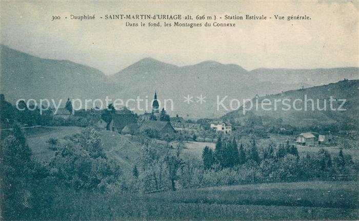 AK / Ansichtskarte Saint Martin d Uriage Vue generale Dans le fond les Montagnes du Connexe Kat. Saint Martin d Uriage