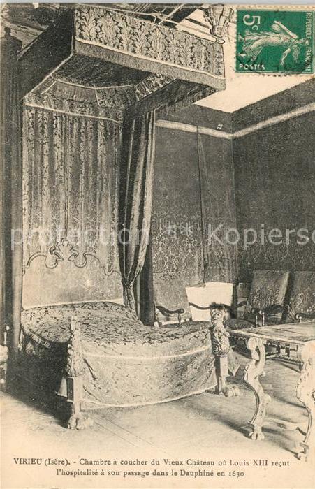 AK / Ansichtskarte Virieu Chambre a coucher du Vieux Chateau ou Louis XIII Kat. Virieu