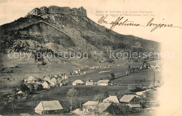 AK / Ansichtskarte Le Sappey en Chartreuse Isere Village du Sappey et Chamechaude Kat. Le Sappey en Chartreuse