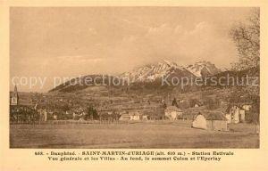 AK / Ansichtskarte Saint Martin d Uriage Vue generale et les Villas Au fond le sommet Colon et l Eperlay Kat. Saint Martin d Uriage