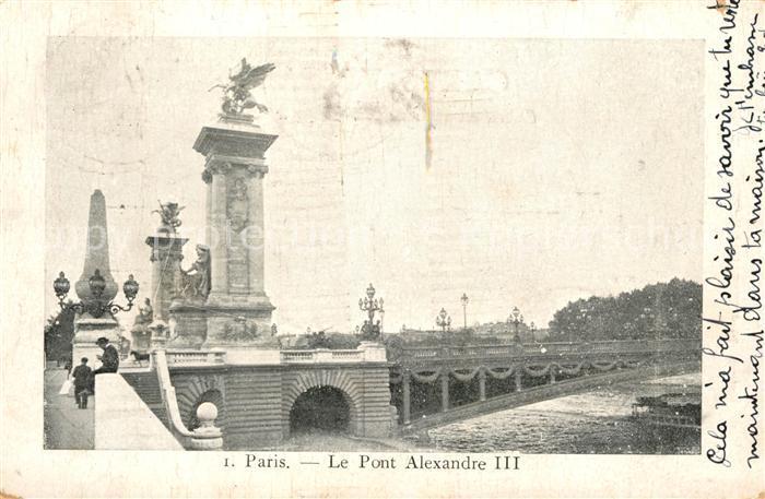AK / Ansichtskarte Paris Pont Alexandre III Kat. Paris