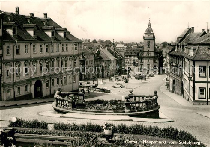 AK / Ansichtskarte Gotha Thueringen Hauptmarkt vom Schlossberg Kat. Gotha