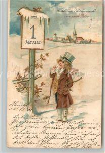 AK / Ansichtskarte Neujahr Engel Hut Litho Kat. Greetings