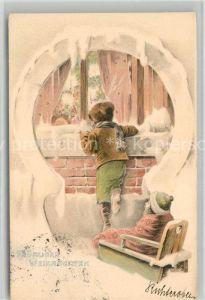 AK / Ansichtskarte Weihnachten Kinder Litho Kat. Greetings
