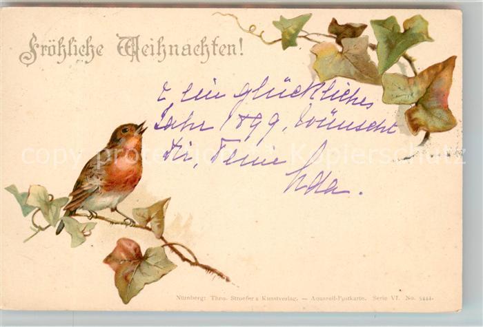 AK / Ansichtskarte Weihnachten Rotkehlchen Litho  Kat. Greetings