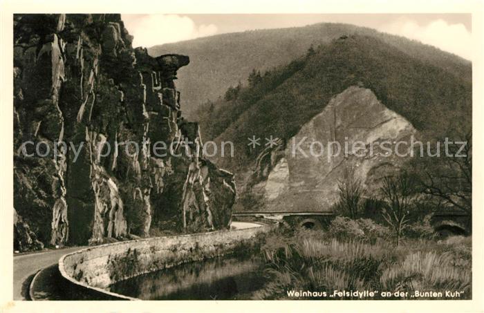 AK / Ansichtskarte Walporzheim Weinhaus Felsidylle an der Bunten Kuh Kat. Bad Neuenahr Ahrweiler