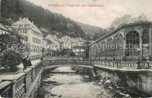 AK / Ansichtskarte Wildbad Schwarzwald Trinkhalle mit Olgastrasse Kat. Bad Wildbad