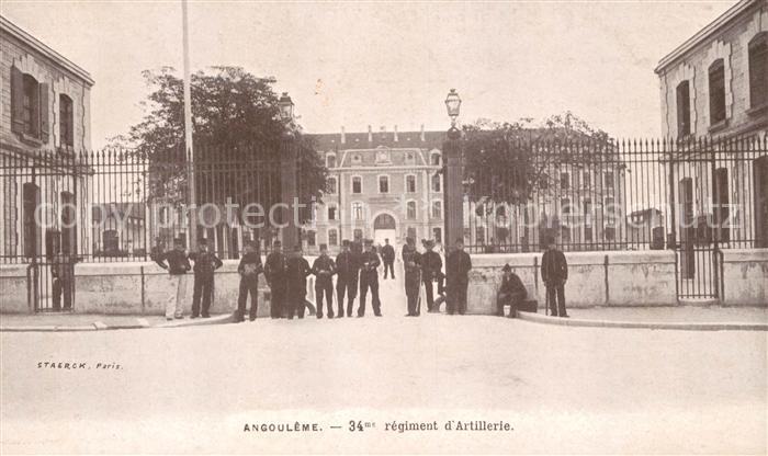 AK / Ansichtskarte Angouleme Regiment d Artillerie Kat. Angouleme