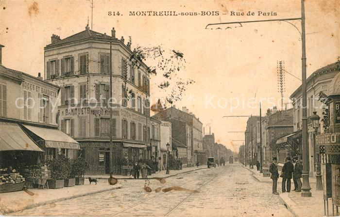 AK / Ansichtskarte Montreuil Bobigny Rue de Paris Kat. Montreuil