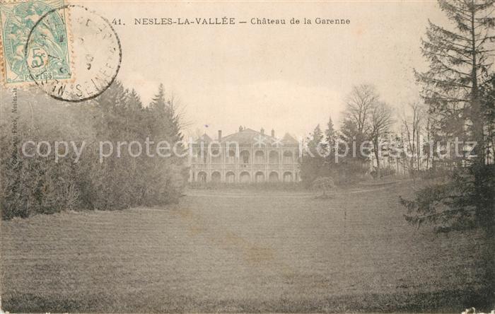 AK / Ansichtskarte Nesles la Vallee Chateau de la Garenne Kat. Nesles la Vallee