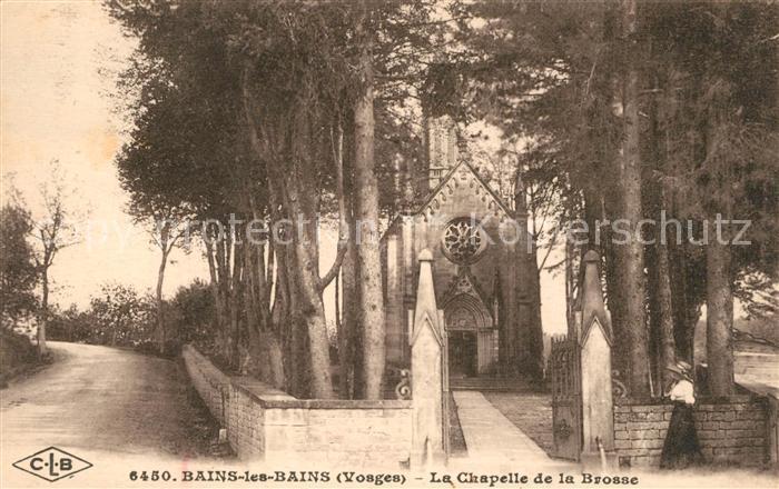 AK / Ansichtskarte Bains les Bains Chapelle de la Brosse Kat. Bains les Bains