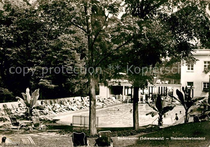 AK / Ansichtskarte Badenweiler Thermalschwimmbad Kurort im Schwarzwald Kat. Badenweiler