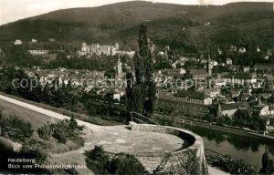 AK / Ansichtskarte Heidelberg Neckar Panorama Blick vom Philosophengaertchen Schloss Kat. Heidelberg