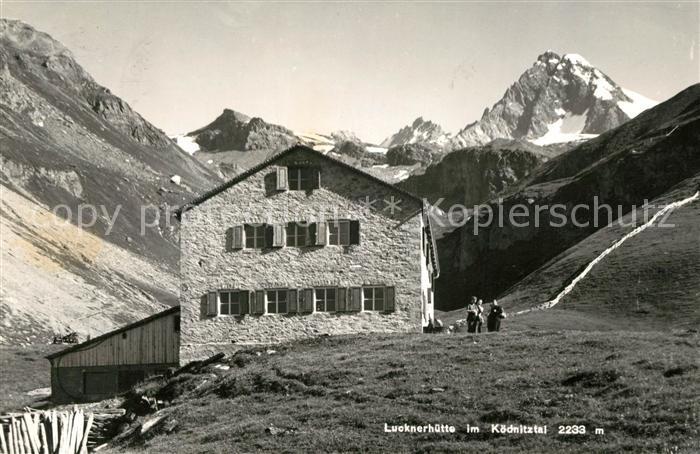 AK / Ansichtskarte Kals Grossglockner Lucknerhuette im Koednitztal Hohe Tauern Kat. Kals am Grossglockner