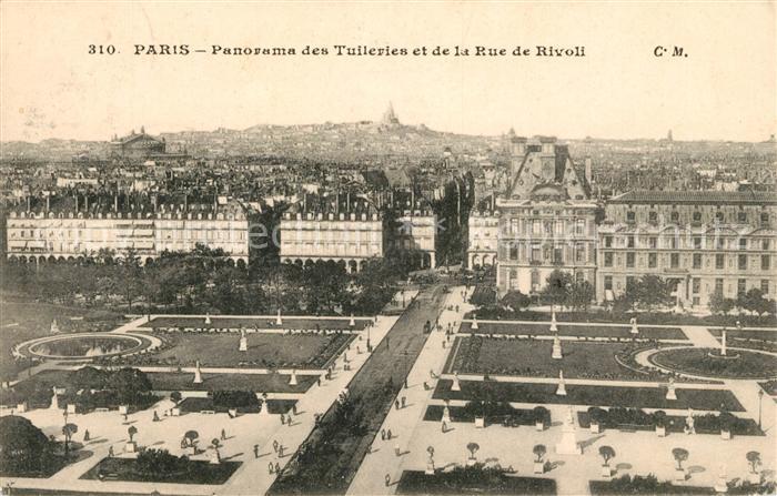 AK / Ansichtskarte Paris Panorama des Tuileries et de la Rue de Rivoli Kat. Paris