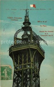 AK / Ansichtskarte Paris Le Sommet de la Tour Eiffel Kat. Paris