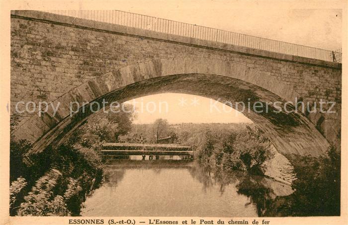 AK / Ansichtskarte Essonnes Pont du chemin de fer Kat. Corbeil Essonnes