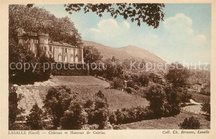 AK / Ansichtskarte Lasalle Chateau et Hameau de Calviac Kat. Lasalle