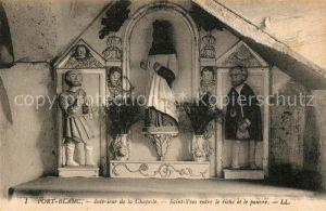 AK / Ansichtskarte Port Blanc Interieur de la Chapelle Saint Yves entre le riche et le pauvre Kat. Larmor Baden