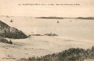 AK / Ansichtskarte Saint Jacut de la Mer La Plage Depart des Voiliers pour la Peche Kat. Saint Jacut de la Mer