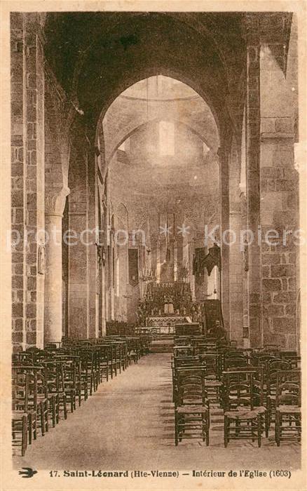 AK / Ansichtskarte Saint Leonard de Noblat Interieur de l Eglise Kat. Saint Leonard de Noblat