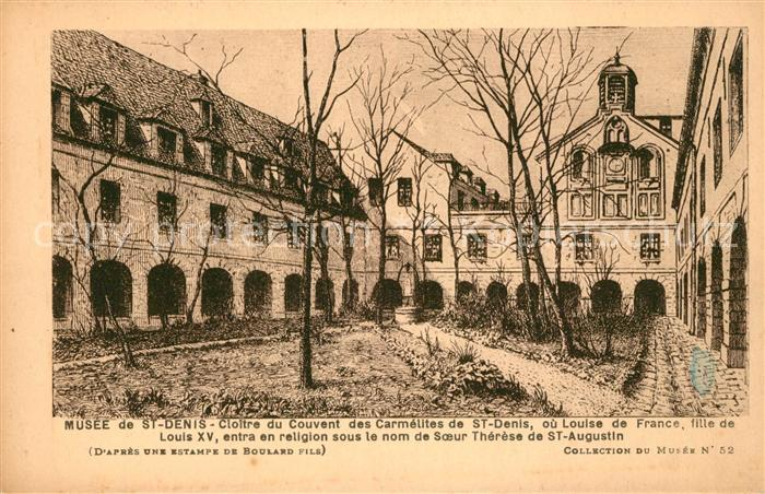 AK / Ansichtskarte Saint Denis Chef Caux Musee de St Denis Cloitre du Couvent des Carmelites de St Denis