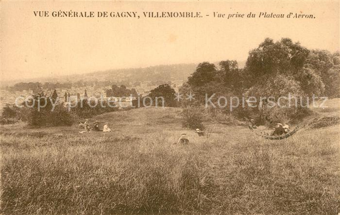 AK / Ansichtskarte Villemomble Vue generale de Gagny Vue prise du Plateau d Avron Kat. Villemomble