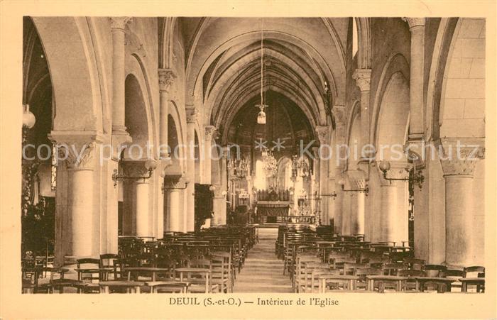 AK / Ansichtskarte Deuil la Barre Interieur de l Eglise Kat. Deuil la Barre