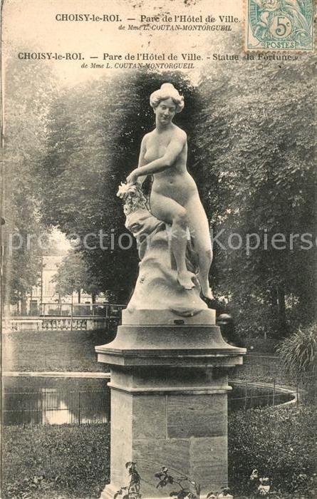AK / Ansichtskarte Choisy le Roi Parc de Hotel de Ville Statue la Fortune Kat. Choisy le Roi