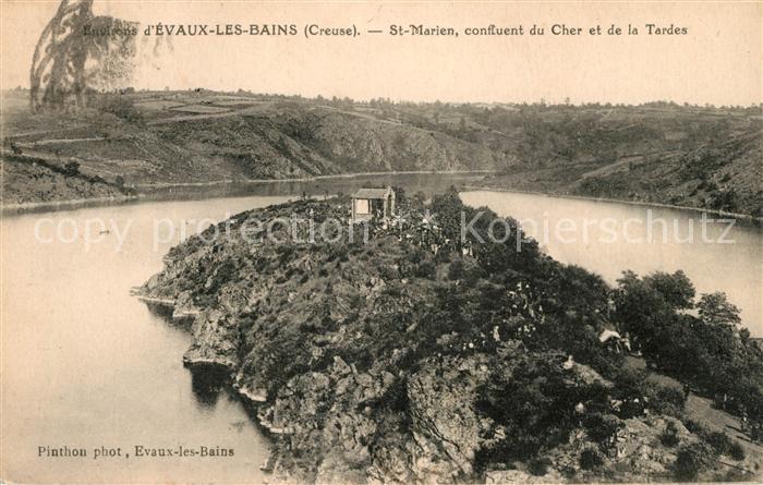 AK / Ansichtskarte Evaux les Bains St Marien confluent du Cher et de la Tardes Kat. Evaux les Bains