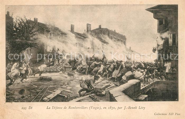 AK / Ansichtskarte Rambervillers La Defense de Rambervillers en 1870 Kat. Rambervillers