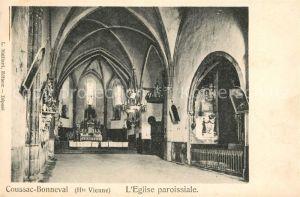 AK / Ansichtskarte Coussac Bonneval Haut Vienne Eglise paroissiale Kat. Coussac Bonneval