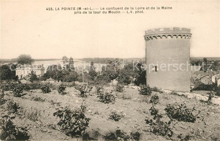 AK / Ansichtskarte La Pointe Bouchemaine Le confluent de la Loire et de la Maine pris de la tour du Moulin Kat. Bouchemaine
