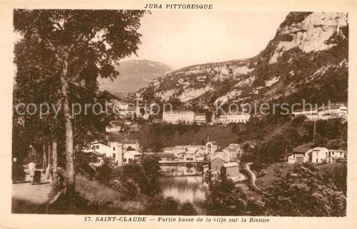 AK / Ansichtskarte Saint Claude Jura Partie basse de la ville sur la Bienne Kat. Saint Claude