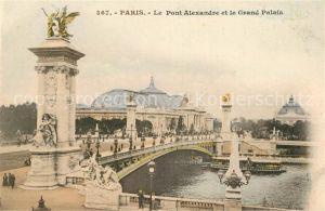 AK / Ansichtskarte Paris Le Pont Alexandre et le Grand Palais Kat. Paris