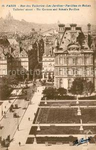 AK / Ansichtskarte Paris Rue des Tuileries Les Jardins Pavillon de Rohan Kat. Paris