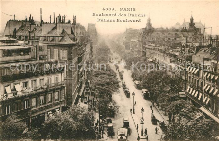 AK / Ansichtskarte Paris Boulevard des Italiens  Kat. Paris