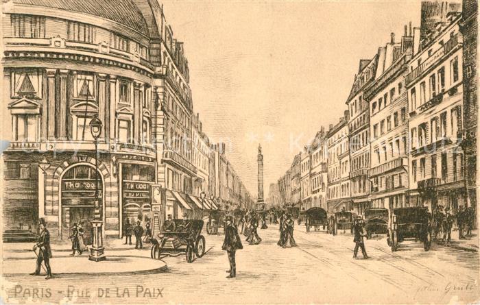 AK / Ansichtskarte Paris Rue de la Paix Kat. Paris
