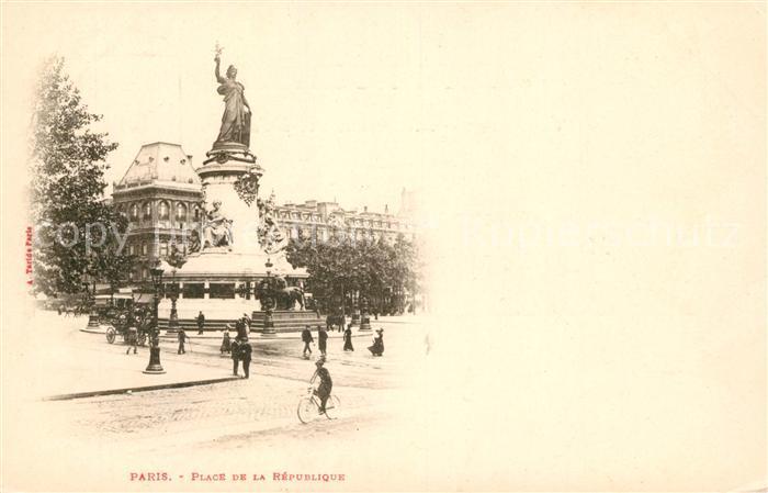 AK / Ansichtskarte Paris Place de la Republique Kat. Paris